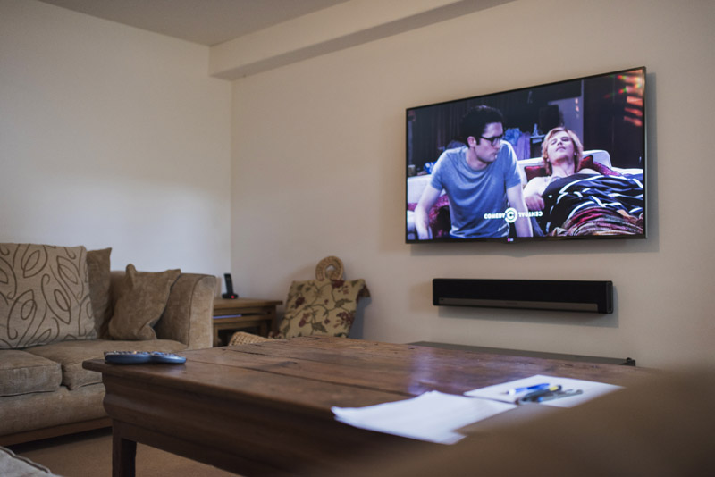 LG60 inch tv installation in bath