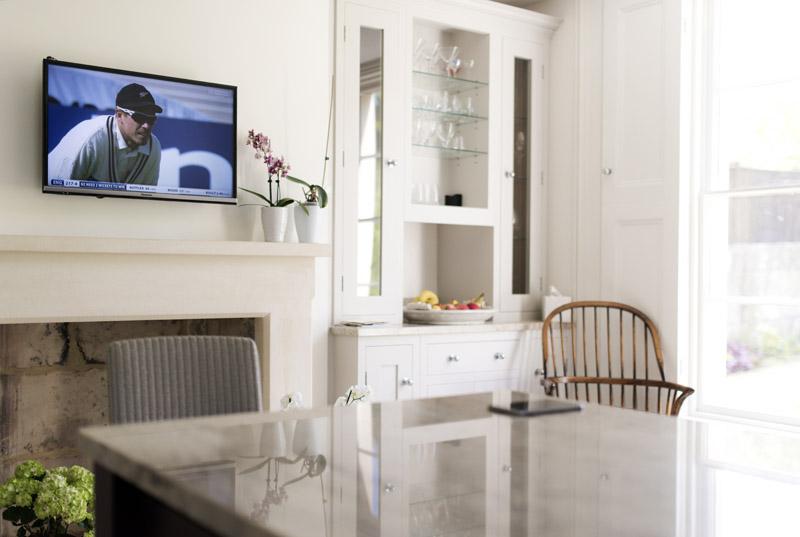 Panasonic 32inch tv installation in bath
