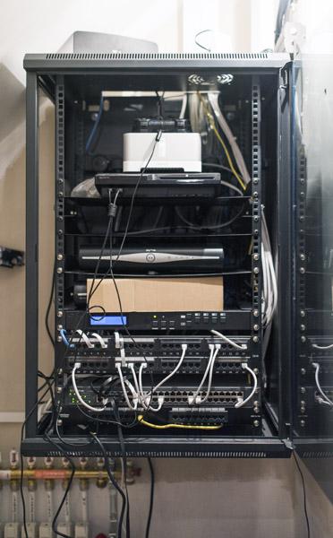 Comms Cupboard Including Hdmi Matrix And Cat6 Network
